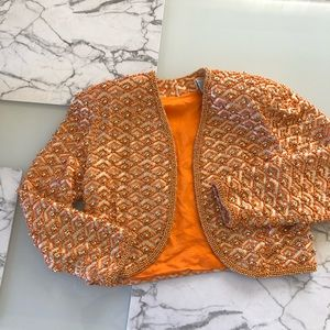 vintage orange jacket
